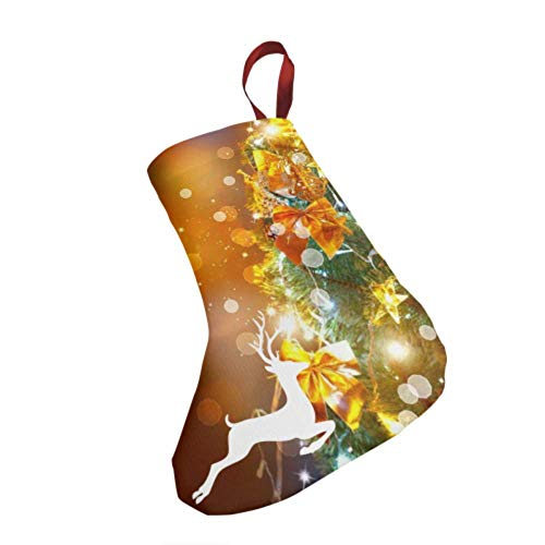 WJWEG Christmas Stockings 3pcs Set 7.5' Christmas Holiday Blinking Decorated Stocking Christmas Decorations for Home Party Xmas Fireplace Hanging Ornament Gifts