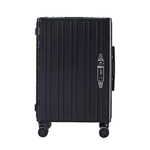 TUW 20'' carry on suitcase on wheels Foldable luggage cabin rolling luggage bag trolley case newfangled business travel suitcase,Black,20'