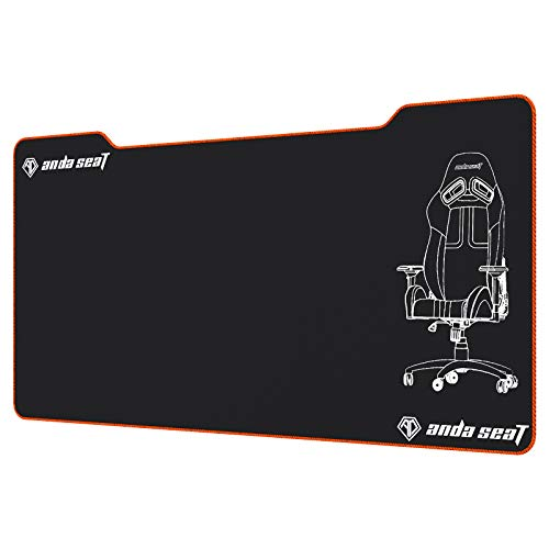 ANDASEAT Gaming Mouse Pad, Large Mouse Pad with Stitched Edges,Extended Mousepad with Superior Micro-Weave Cloth, Non-Slip Base, Water Resist Keyboard Pad, Desk Mat for Gamer, Office & Home