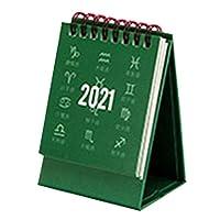 Aibecy ホームオフィススクールの無地ミニデスクカレンダー漫画月刊スタンディングメタルコイルカレンダーテーブルプランナー(2020年8月から2021年12月)