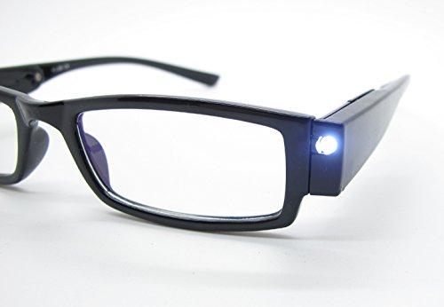 KIKAR - Gafas de lectura con luz LED con estuche resistente y elegante, mejora tu visión incluso en la oscuridad. Dioptrías disponibles +1,0, +1,5, +2,0, +2,5, +3,0