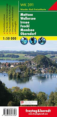 WK 391 Mattsee - Wallersee - Irrsee - Fuschl - Mondsee - Oberndorf, Wanderkarte 1:50.000