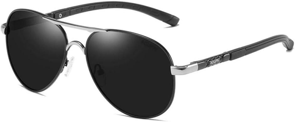 cadre métallique lunettes de soleil hommes pilote polarisé lunettes de soleil pour hommes femmes Noir/argenté/gris.