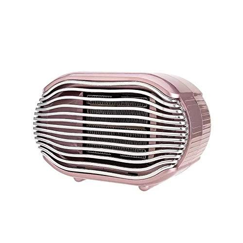Rose Cup Calefactor Eléctrico Bajo Consumo, Calefactor Portátil Eléctrico de Aire Caliente, Mini Calentador Silencioso Cerámico para el Baño Oficina Dormitorio, 2 Modalidades 400W/800W