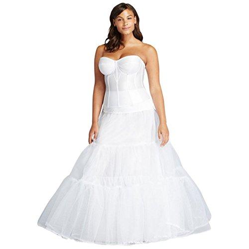 Plus Size Ball Gown Silhouette Slip Style 9BALLGOWNSLIP, White, 3X