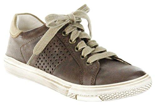 Richter Kinder Halbschuhe Sneaker braun Lederdeck Jungen Schuhe 6224-521-2601, Farbe:braun, Größe:32 EU