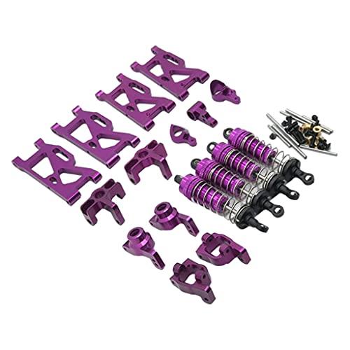 Hellery Brazos de suspensión Delanteros y Traseros de Metal, Amortiguador y buje C, Piezas de Repuesto para WLtoys, Accesorio de Piezas de actualización de