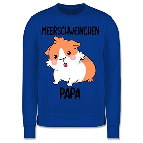Tiermotiv Animal Print - Meerschweinchen Papa - 128 (7/8 Jahre) - Royalblau - Geschenk - JH030K - Kinder Pullover