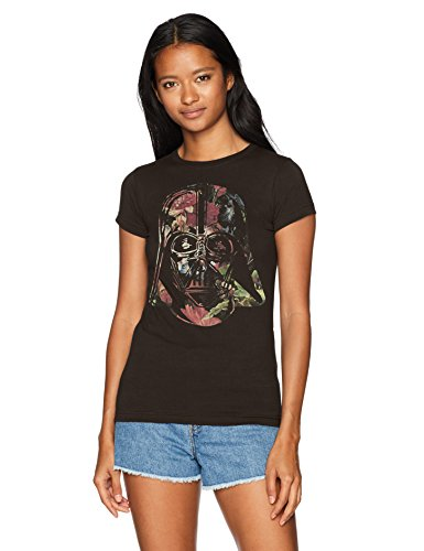 STAR WARS Camiseta de Manga Corta para Mujer, diseño de Darth Vader, Negro, L