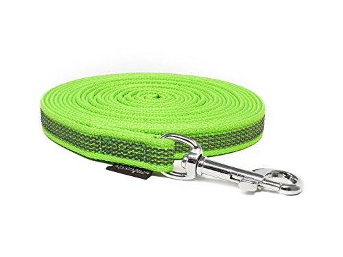 Mystique Gummierte Hundeleine Leine 15mm neon grün 10m