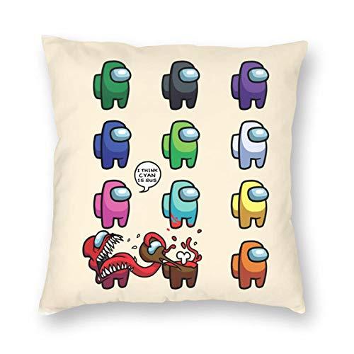 Fashion Among Us Funda de almohada cuadrada con cremallera Funda de almohada Decoración para exteriores Funda de almohada Funda de cojín para sofá cama Decorativo, 45x45cm