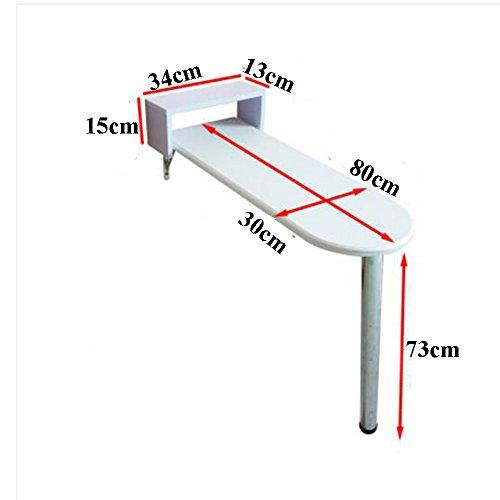 Table pliante YNN Table Paresseux Table Ordinateur Portable Table Lit Table Bureau Dortoir Chambre Étudiants Collège Pliable Petite Table Petit Espace Grand Rangement Bar (Taille : 80 * 30 * 73cm)