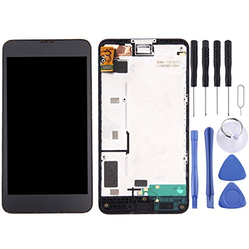 Nokia Touch Screen Display LCD + Touch Panel con Cornice for Nokia Lumia 630/635 (Nero)