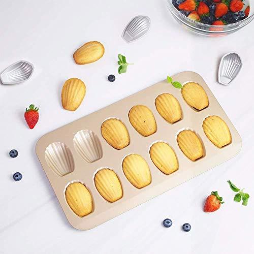 Muffin Cupcake blikken vormen bakken schimmel chocolade zoete vormen taart vorm 12 gaten dikker Madeleine Shell Cookie vorm 1 koekjes taart bakwerk gereedschap 12 Holes
