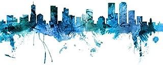 Imagekind Wall Art Print Entitled Denver Colorado Skyline by Michael Tompsett | 24 x 16