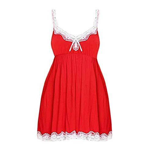 Camisones sexy de mujer con cuello en V corto ropa de dormir de verano de encaje vestido de noche de tallas grandes camisón ropa para el hogar ropa de dormir G-String