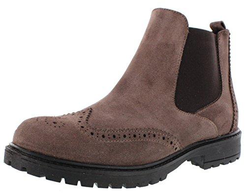 Lepi laarzen grijs licht gevoerd gatenpatroon met ritssluiting