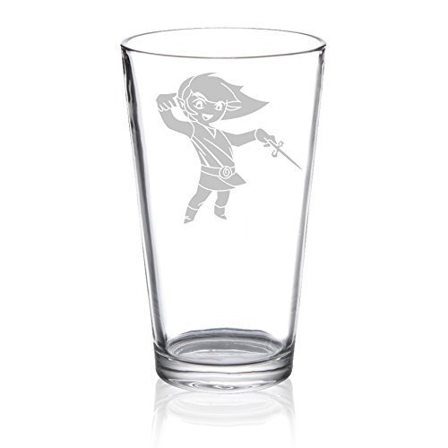 The Legend of Zelda - Wind Waker - Etched Pint Glass