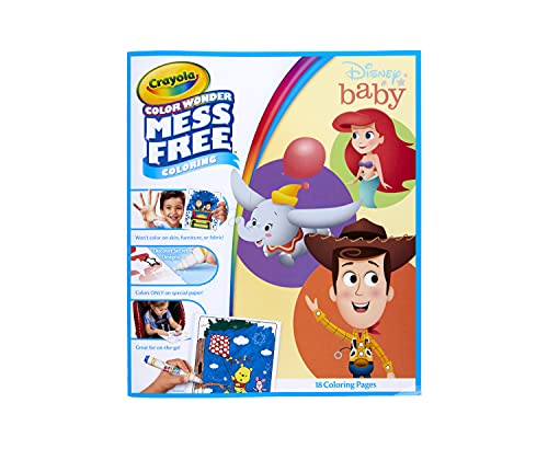 Crayola Color Wonder Disney Baby Characters, Mess Free Coloring Pages, Gift for Kids, Age 3, 4, 5, 6
