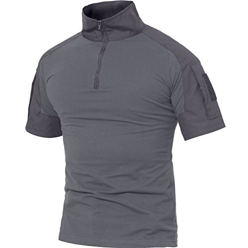 MAGCOMSEN Herren Kurzarm Shirt Armee...