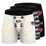 Confezione da 3 Intimo Traspirante da Uomo con Stampa Digitale, Slip da Boxer Senza Tag Cool Dry, Pantaloni Sterili,St4,XXL
