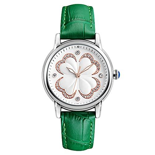 KLFJFD Reloj De Cuarzo Impermeable con Flor De Diamantes De Imitación De Lujo A La Moda para Mujer, Reloj De Moda para Regalo Informal Creativo para Niña