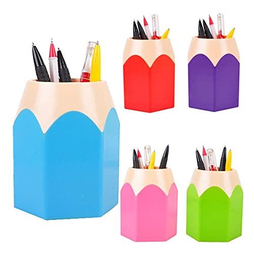Allegorly Stiftebox aus Kunststoff Stifteköcher Schreibtisch Organizer Multifunktionaler Stifthalter Schreibwaren Stifthalter Box Stifthalter Aufbewahrungsbox Pencil Organizer 8,5 x 7,5 x 10,5 cm