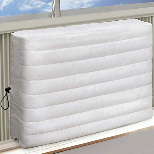 Brivic Indoor Air Conditioner Cover AC Cover for Inside Window Unit 21 x15 x 3.5 inches(L x H x D),White