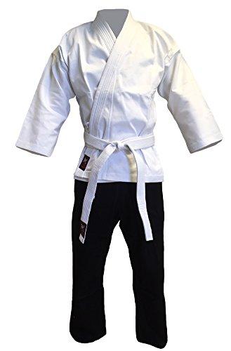 Budodrake Kempo-Karate-Anzug weiß/schwarz (140)