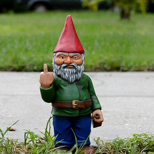 Runsmooth 15 Cm Nain De Jardin Doigt dhonneur - Statue De Gnomes Go Away Ornements De Pelouse De Jardin Drôle, Décorations Intérieures Ou Extérieures