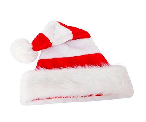 BIGBOBA Sombrero de Navidad Rojo y Blanco y Verde Sombrero de Navidad de Santa para Adultos y niños Disfraces de...