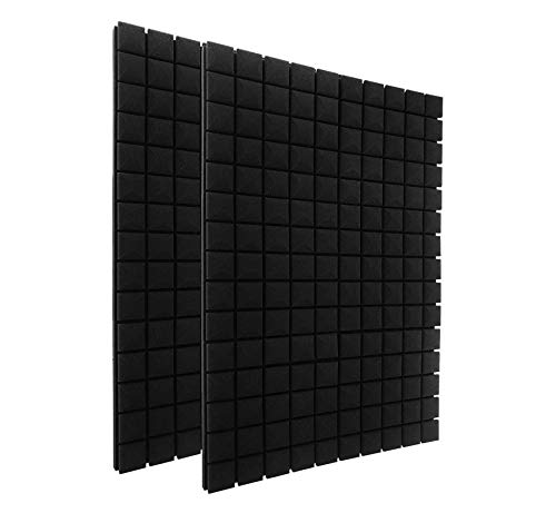 "12 Pack Set 2"" X 12"" X 12"" Acoustic Foam Panels, Studio Wedge Tiles, Sound Panels wedges Soundproof Sound Insulation Absorbing, 25 Blocks Mushroom Design"