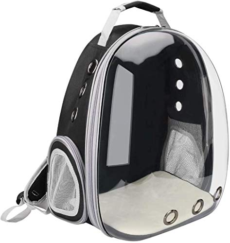LAIHUAQUAN Comfortable Dog Cat Carrier Backpack, Puppy Pet Front Pack with Breathable Head out Design and Padded Shoulder for Hiking Outdoor Travel