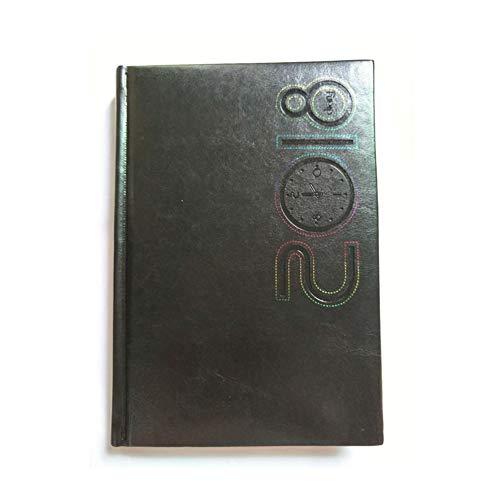 Escuela A5 semanal Planificador Personal organizador de cuero Diario de viaje Agenda Paperback Composición Business Notebook 2017 a 2018 Notebook trabajo (Color : Black, Size : A5)