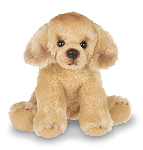 Bearington Lil' Goldie Small Plush Golden Retriever Stuffed Animal Puppy Dog, 6.5 inches
