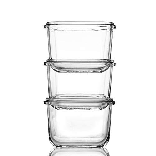 GENICOOK Aufbewahrungsbehälter für Babynahrung Babybrei Beikost Vorratsdosen Glas- BPA-frei & FDA & LFGB Zugelassen- Aufbewahrungssystem für Babynahrung (Runde3 x150 mL) (Runde)
