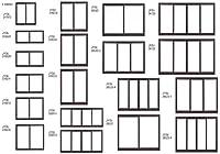 建築模型材料 1/50 サッシ ブラック C J-SB002