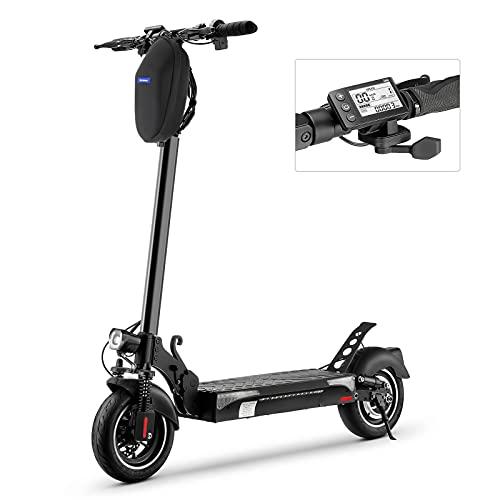 iScooter Monopattino Elettrico iX4, Motore 500W, 10'' Fuoristrada Monopattino Elettrico Adulti Pieghevole, Batteria Li-ION 13Ah 48V, 40 Km di Autonomia, Velocità Fino a 45 Km/h con App Controllo
