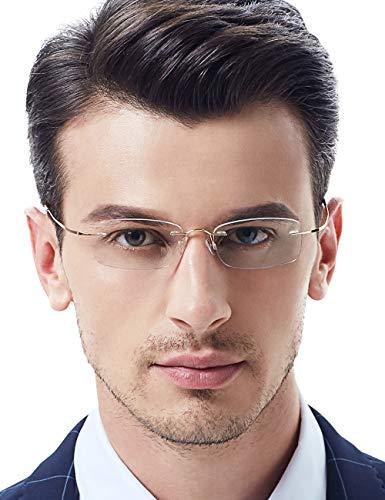 VEGOOS Gafas de lectura hombre mujer Ultra ligero (12g) 100%