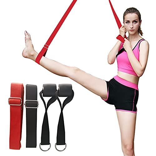 Deiris Correas de Yoga, 3 m, 2 x Pack, Correa de Estiramiento de piernas Ajustable para la Pierna de Estiramientopara Entrenamiento para Ballet, Baile, Fitness, Pilates, Gimnasia y Flexibilidad