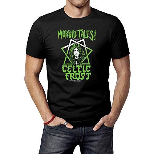 JINFENGT Men's/Herren T-Shirts Celtic Frost Logo T-Shirts Tee Black