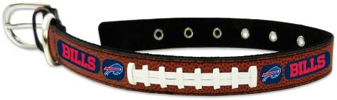 GameWear NFL Buffalo Bills Leather Dog Collar