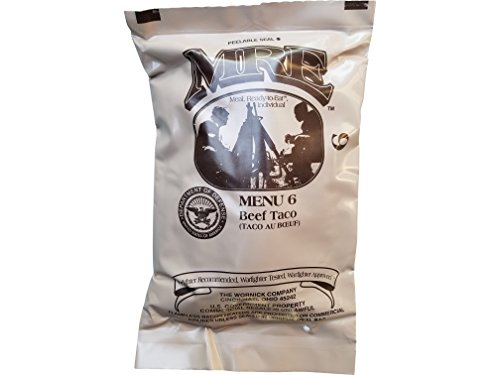 Ultimate 2018 US Military MRE Complete Meal Inspection Date January 2018 or Newer (Beef Taco)