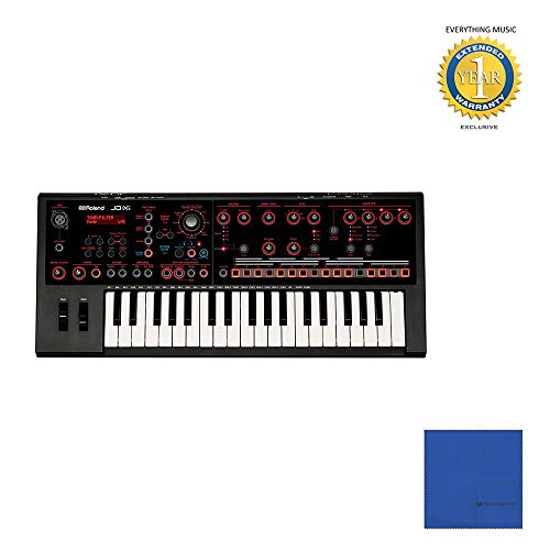 Affordable Roland JD-Xi 37-Key Analog/Digital Synthesizer (Black) with Microfiber and 1 Year Everyth...