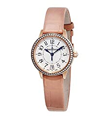 Rendezvous 18kt Pink Gold Silver Dial Cream Leather Watch Q3512520