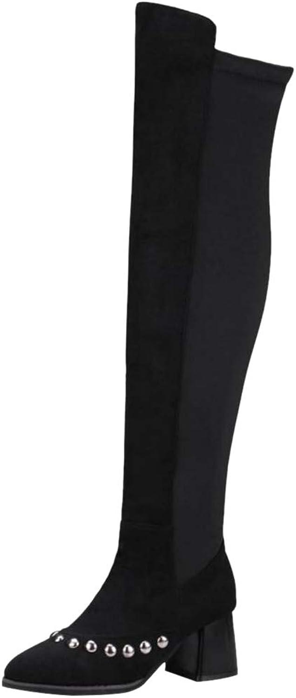 VulusValas Women Fashion High Heel Boots