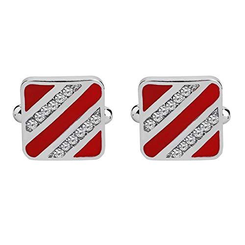 Shah Dripping Diamond Herren- Und Damenhemden Rot Cufflinks Manschettenknopf Hemd Manschettenknöpfe