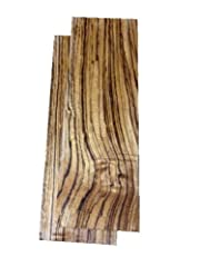 """Solid Zebrawood Lumber Each piece measures a full 3/4"""" x 4"""" x 12"""""""