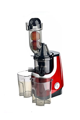 VitaSpeed Multifunktions Entsafter - Obstpresse - Slow Juicer 200 W, BPA-freie Zitruspresse, Slowjuicer 65 U/min, Vertikale Saftpresse für ganze Früchte und Gemüse, Spülmaschinenfest