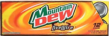 Mountain Dew Live Wire Dew sparked with orange 12-pack 12-ounce cans Fridge Pack Shape